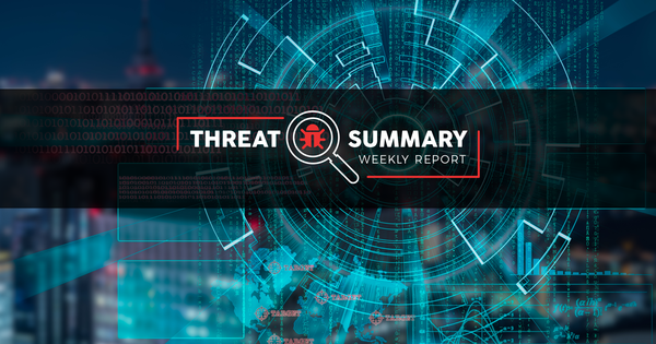 Threat Summary - Week 29, 2019