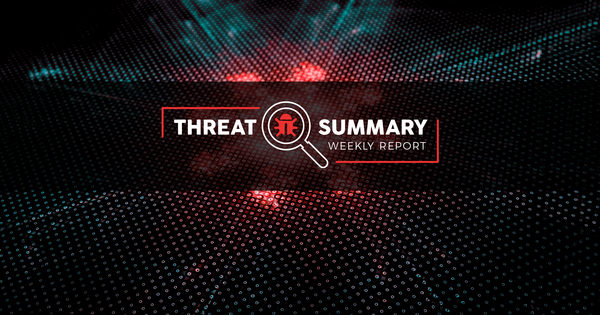 Threat Summary - Week 30, 2019