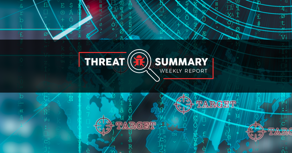 Threat Summary - Week 31, 2019