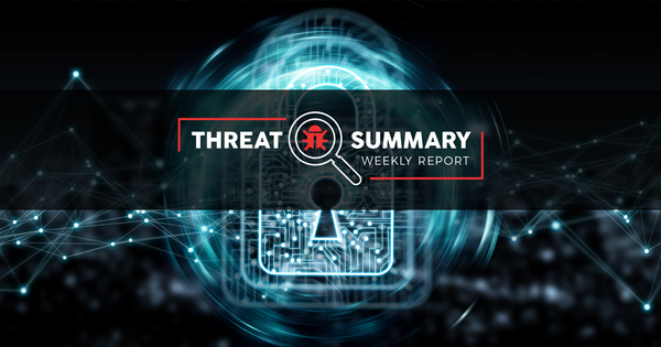 Threat Summary - Week 32, 2019
