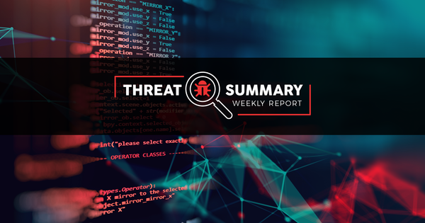 Threat Summary - Week 43, 2019