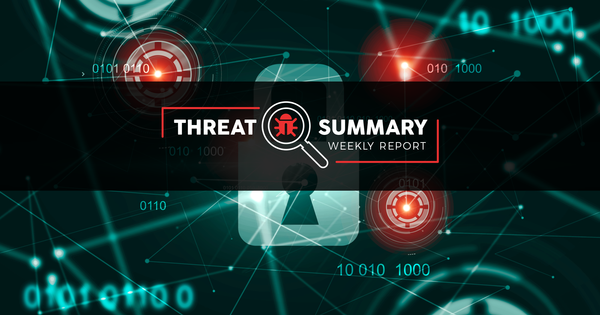 Threat Summary - Week 48, 2019