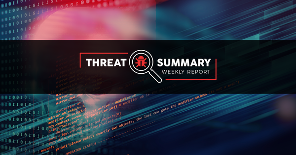 Threat Summary - Week 45, 2019